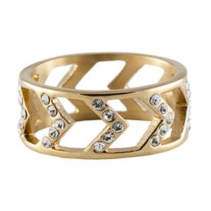 Picture of Gold Chevron Ring - Size 8